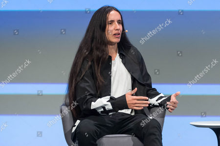 Stock Photo of Xiuhtezcatl Martinez, Climate Activist, Hip-Hop Artist and Author, speaks at the Edison Talks at Chicago Ideas Week.