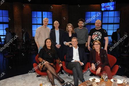 Stock Photo of Mario Galla, Kester Schlenz, Jella Haase, Oliver Mommsen, Christian Lohse, Tala Mohajeri, Claus Kleber and Bettina Böttinger