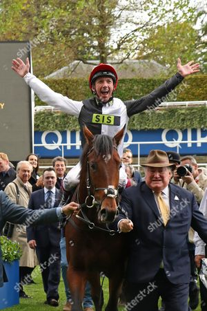 CRACKSMAN ridden by Frankie Dettori led in by Anthony Oppenheimer after winning The Qipco Champion Stakes (Group 1) at Ascot