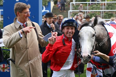PERSUASIVE with Frankie Dettori and Chris Richardson after winning The Queen Elizabeth II Stakes (Group 1) at Ascot