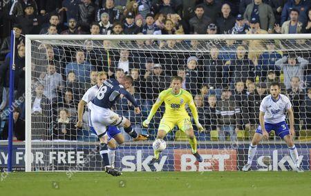 Ryan Tunnicliffe of Millwall scores the second goal past Birmingham City Goalkeeper Tomasz Kuszczak, 2-0