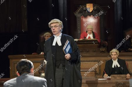 Philip Franks as Mr Myers QC, Patrick Godfrey as Mr Justice Wainwright, Elliot Balchin as Clerk to the Court