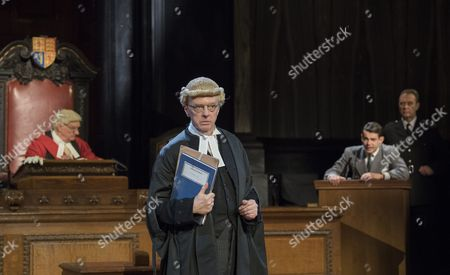Patrick Godfrey as Mt Justice Wainwright, Philip Franks as Mr Myers QC, Jack McMullen as Leonard Vole, John House as The Warder
