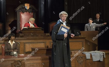 Brig Bennett, Patrick Godfery as Mr Justice Wainwright, Philip Franks as Mr Myers QC, Jack McMullen as Leonard Vole, John House as The Warden