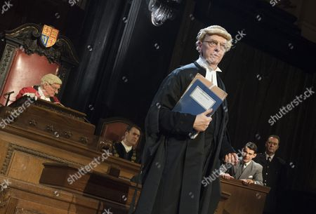 Patrick Godfery as Mr Justice Wainwright, Philip Franks as Mr Myers QC, Jack McMullen as Leonard Vole, John House as The Warden