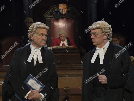 David Yelland as Sir Wilfrid Robarts, Patrick Godfery as Mr Justice Wainwright, Philip Franks as Mr Myers QC,