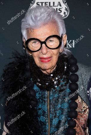 Iris Apfel attends the Harper's BAZAAR 'Icons by Carine Roitfeld' party at The Plaza Hotel, in New York
