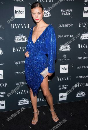 Lais Oliveira attends the Harper's BAZAAR 'Icons by Carine Roitfeld' party at The Plaza Hotel, in New York