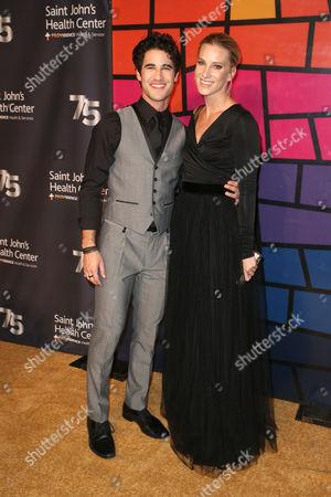 Darren Criss and Heather Morris