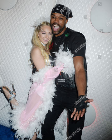 Stock Image of Corinne Olympios and DeMario Jackson