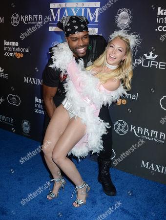 DeMario Jackson and Corinne Olympios