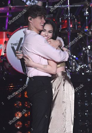 Stock Picture of Bradley Simpson - The Vamps with Maggie Lindemann