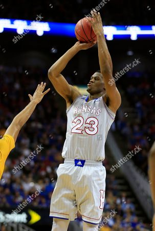 Kansas forward Billy Preston (23) during the first half of an exhibition NCAA college basketball game against Missouri in Kansas City, Mo