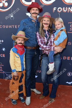 Sarah Jane Morris and family attend age GOOD+ Foundation 2nd Annual Halloween Bash at The Culver Studios, in Culver City, Calif