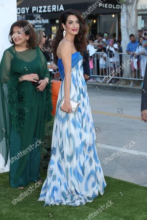 Baria Alamuddin and daughter Amal Clooney