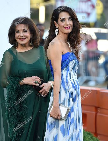 "Amal Clooney, Baria Alamuddin. Amal Clooney, right, and her mother, Baria Alamuddin, arrive at the Los Angeles premiere of ""Suburbicon"" on in Los Angeles"