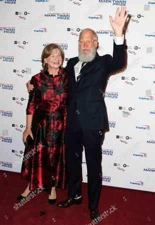 Regina Lasko, David Letterman. David Letterman with his wife Regina Lasko arrive at the Kennedy Center for the Performing Arts for the 20th annual Mark Twain Prize for American Humor presented to David Letterman, in Washington