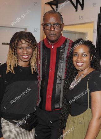 Tangie Murray, Executive Director, RUSH ARTS, Photographer Jamel Shabazz and Gallerist Oshun Layne, RUSH ARTS