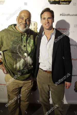 Stock Photo of Visual Artist/Author Danny Simmons and Peter Kundhardt