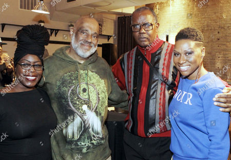 Stock Photo of Laylah Amatullah Barrayn, Visual Artist/Author Danny Simmons, Co-founder, RUSH ARTS, Photographic Artist Jamel Shabazz and Author/Curator Shantrelle P. Lewis