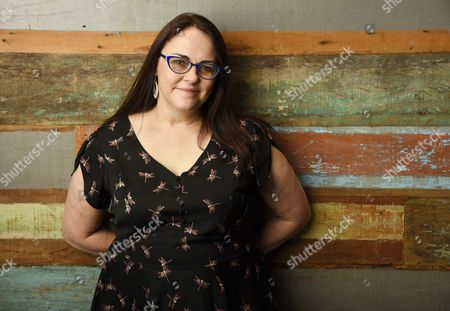 "Jocelyn Moorhouse, director and co-writer of the film ""The Dressmaker,"" poses for a portrait at Broad Green Pictures in Los Angeles"