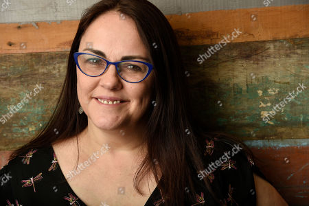 "Jocelyn Moorhouse, director and co-writer of the film ""The Dressmaker,"" poses for a portrait at Broad Green Pictures, in Los Angeles"
