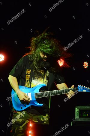 Stephen Carpenter of Deftones performing, at The Tabernacle, in Atlanta