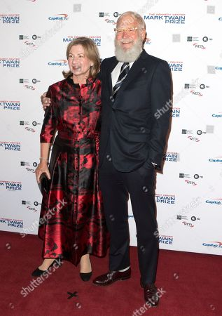 Regina Lasko, David Letterman. David Letterman with his wife Regina Lasko arrive at the Kennedy Center for the Performing Arts for the 20th Annual Mark Twain Prize for American Humor presented to David Letterman, in Washington, D.C