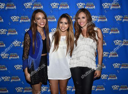 Leslie Grace and from left, Jasmine V and America Sierra celebrate the Pop-Tarts #CrazyGoodSummer at the House of Blues, in West Hollywood, Calif