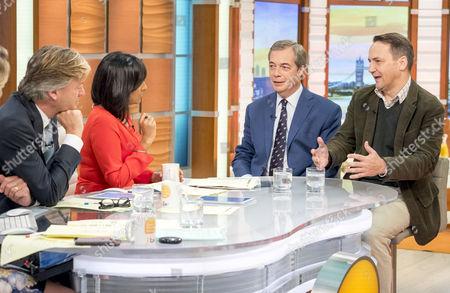Richard Madeley, Ranvir Singh with Nigel Farage and Radoslaw Sikorski
