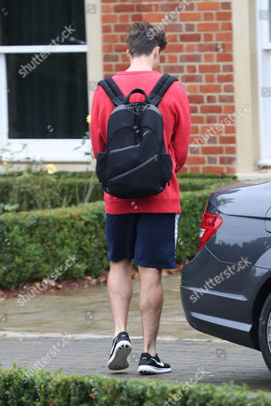 Spencer Sutherland leaving the X Factor house in north London