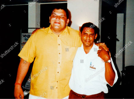Britains Got Talent contestant Anthony Ghosh who won over judges last Saturdays show went through a transformation to create his current image. Ghosh lost over 7 stone when he was younger. Pictured here (left) on holiday in the Dominican Republic in 2002.