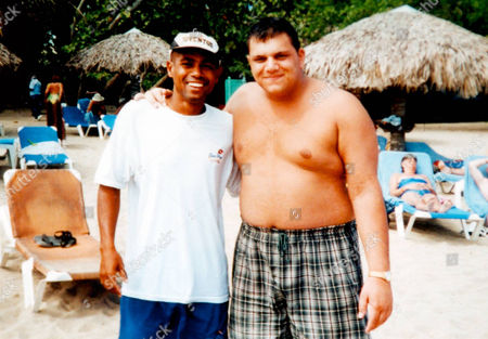 Britains Got Talent contestant Anthony Ghosh who won over judges last Saturdays show went through a transformation to create his current image. Ghosh lost over 7 stone when he was younger. Pictured here (right) on holiday in the Dominican Republic in 2002.