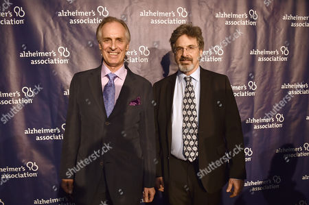 "Keith Carradine and Robert Carradine arrive at the 24th annual Alzheimer's Association ""A Night at Sardi's"" at the Beverly Hilton hotel, in Beverly Hills, Calif"