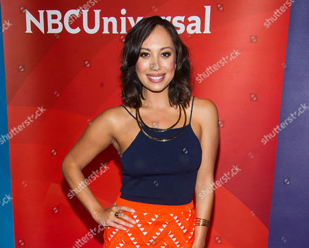 Cheryl Burke arrives at the NBCUniversal New York Summer Press Day event at The Four Seasons Hotel in New York. Miss USA has lost its third co-host. Dancing with the Stars' Cheryl Burke said Tuesday, June 30, she is dropping out of next month's pageant in light of the recent statements made by Donald Trump, a co-owner of the pageant. Burke was scheduled to join MSNBC anchor Thomas Roberts co-hosting NBC's telecast of the July 12 event