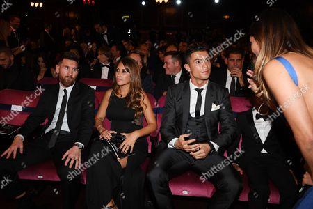 Layla Anna Lee, Cristiano Ronaldo, Lionel Messi and Antonella Roccuzzo