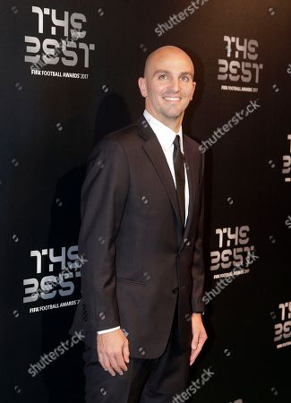 Argentina former footballer Esteban Cambiasso arrives for the The Best FIFA 2017 Awards at the Palladium Theatre in London