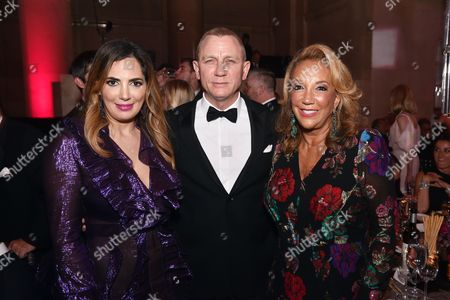 Stock Picture of Daniel Craig, Denise Rich, Daniella Rich Kilstock