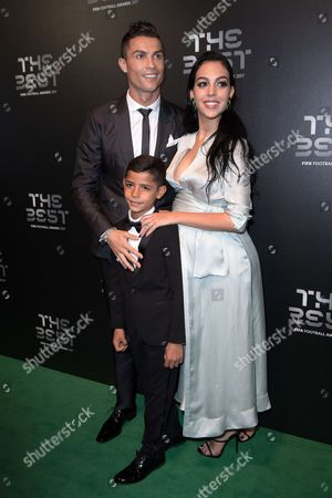 Cristiano Ronaldo with his son Cristiano Ronaldo Jr and Georgina Rodriguez