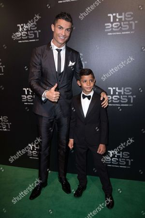 Cristiano Ronaldo with his son Cristiano Ronaldo Jr