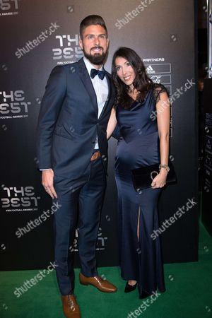 Olivier Giroud and wife Jennifer Giroud