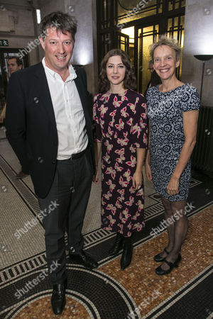 James Prichard, Catherine Steadman (Romaine) and Lucy Bailey (Director)