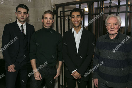 Jack McMullen (Leonard Vole), Elliot Balchin (Clerk of the Court/Usher), Alex Stedman (Policeman/Plain Clothes Detective) and Patrick Godfrey (Sir Justice Wainwright)