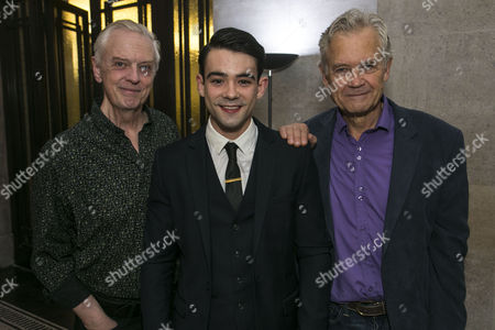 Philip Franks (Mr Myers), Jack McMullen (Leonard Vole) and David Yelland (Sir Wilfrid Robarts)