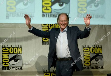 """Actor David Bradley at the """"Doctor Who"""" 50th Anniversary panel on Day 5 of Comic-Con International in San Diego. From the hit British series Broadchurch to Game of Thrones to An Adventure in Space and Time about the creation of Dr Who, Bradley has had a busy year. Bradley attended the BBC America panel Thursday, July 25, to promote his role as, William Hartnell, the first actor to play Dr. Who, in a TV movie called An Adventure in Space and Time. It will air in November coinciding with the 50th Anniversary of Dr Who.â"""