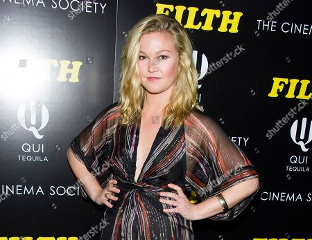 """Actress Julia Stiles at a screening of """"Filth"""" hosted by The Cinema Society and Magnolia Pictures in New York. Stiles is returning to the New York stage in a quirky little comedy about a one-night-stand that has long-term implications. The Cherry Lane Theatre said, that the star of 10 Things I Hate About You, and David Mamet's Oleanna on Broadway will next star in Scott Organ's play Phoenix. James Wirt will play her love interest and Jennifer DeLia will direct them"""
