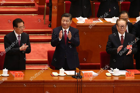 Hu Jintao, Xi Jinping and Jiang Zemin