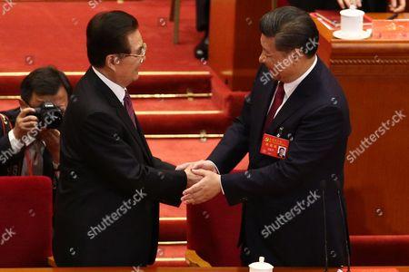 Xi Jinping and Hu Jintao