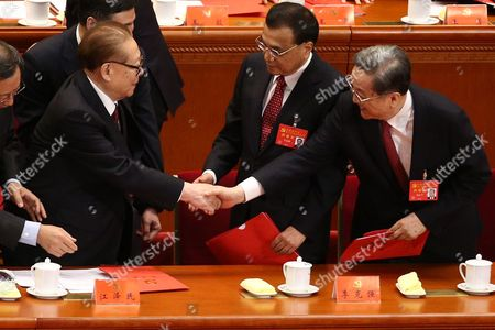 Jiang Zemin and Yu Zhengsheng