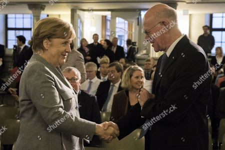 Angela Merkel and Norbert Lammert